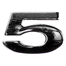image of Chrome Number Badge 5