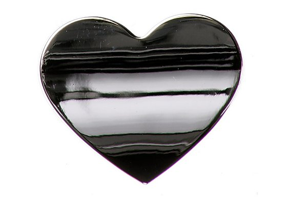 Chrome Sign Badge Heart