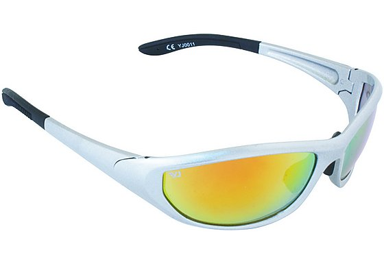 Yellow Jersey Wrap Sunglasses - Silver/Red