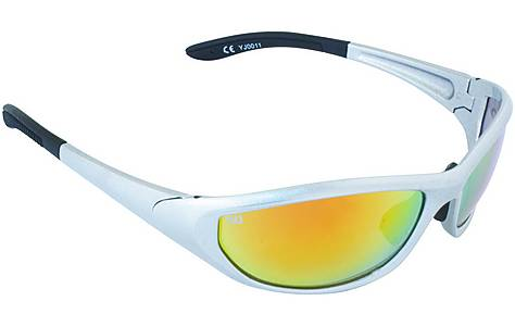 image of Yellow Jersey Wrap Sunglasses - Silver/Red