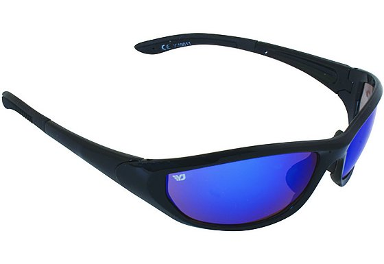 Yellow Jersey Wrap Sunglasses - Black/Blue
