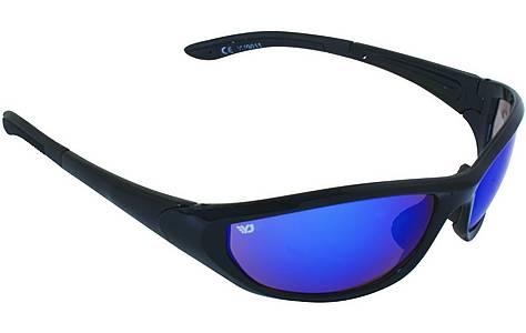 image of Yellow Jersey Wrap Sunglasses - Black/Blue