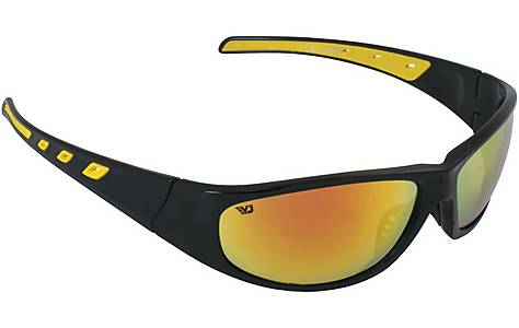 image of Yellow Jersey Plastic Wrap Sunglasses - Black & Yellow