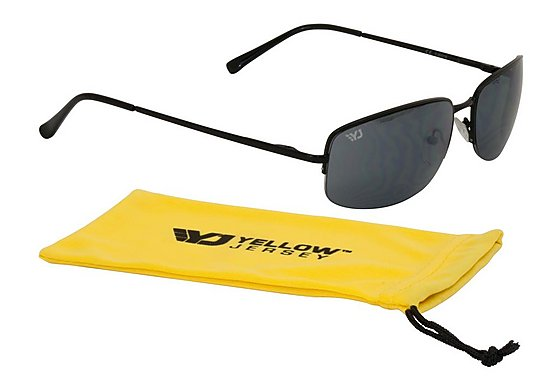 Yellow Jersey Semi Rimless Sunglasses Black
