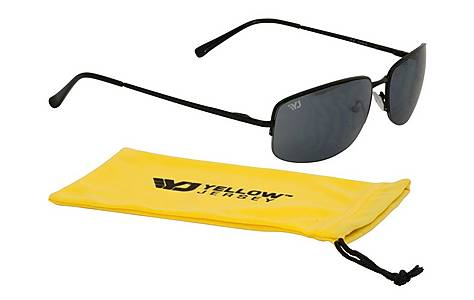 image of Yellow Jersey Semi Rimless Sunglasses Black