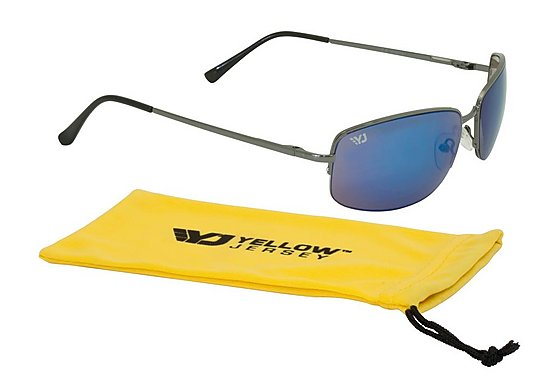 Yellow Jersey Semi Rimless Sunglasses - Gun Metal