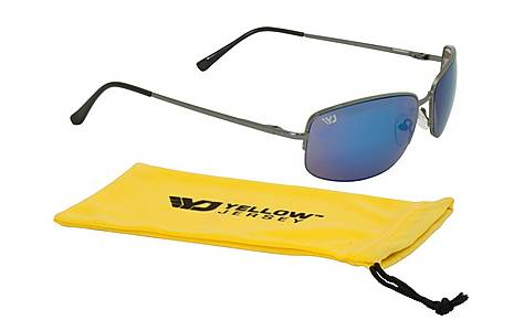 image of Yellow Jersey Semi Rimless Sunglasses - Gun Metal
