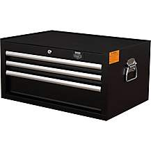 image of Halfords Advanced 3 Drawer Middle Chest - Black
