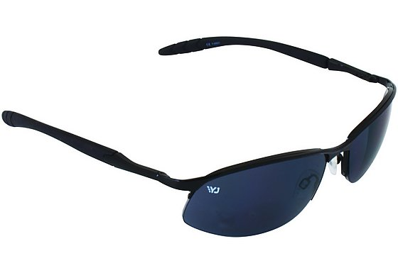 Yellow Jersey Semi Rimless Sunglasses - Black