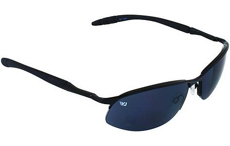 image of Yellow Jersey Semi Rimless Sunglasses - Black