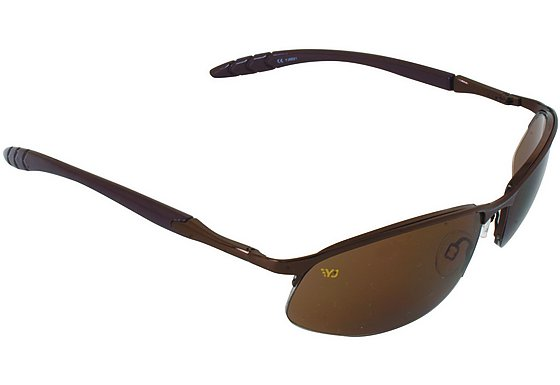Yellow Jersey Semi Rimless Sunglasses - Coffee