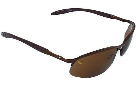image of Yellow Jersey Semi Rimless Sunglasses - Coffee