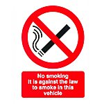 image of No Smoking Car Sticker