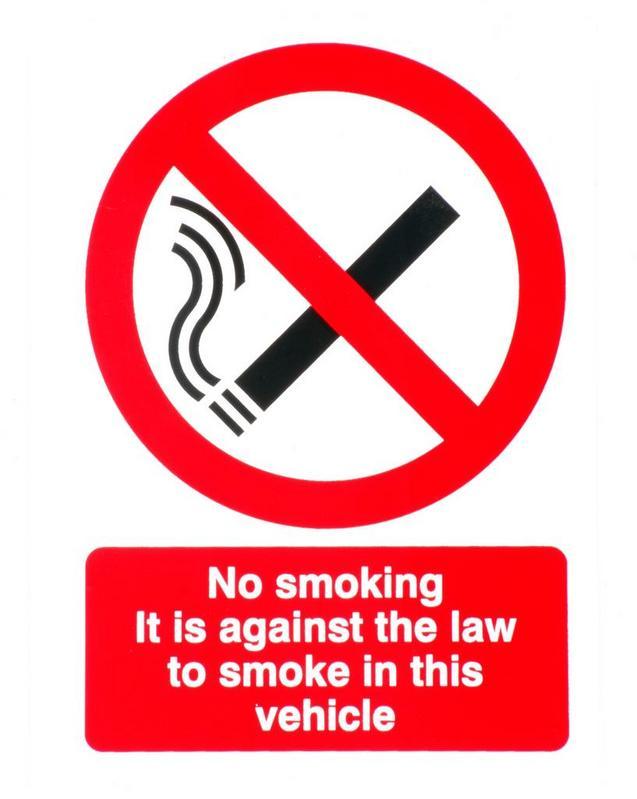 No smoking car sticker