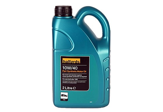Halfords 10W40 Part Synthetic Oil 2L