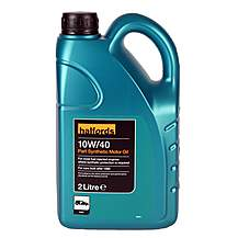 image of Halfords 10W40 Part Synthetic Oil 2L