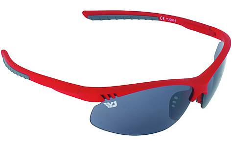 image of Yellow Jersey Semi Rimless Sunglasses - Red