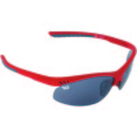 Yellow Jersey Semi Rimless Sunglasses - Red