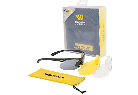 Yellow Jersey Sunglasses with Interchangeable Lens - Black
