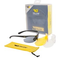Yellow Jersey Sunglasses with Interchangeable Lenses - Black