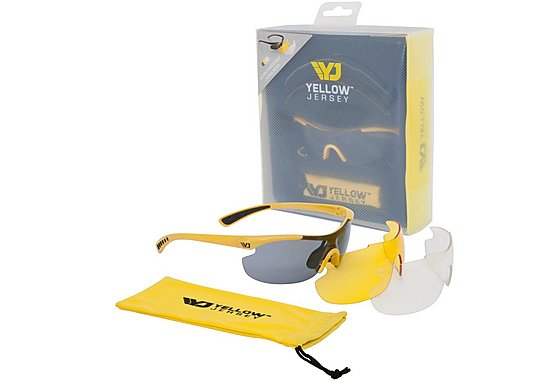 Yellow Jersey Sunglasses with Interchangeable Lens - Yellow
