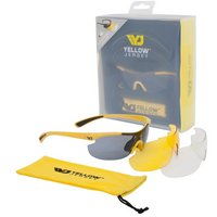 Yellow Jersey Sunglasses with Interchangeable Lenses - Yellow