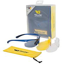 image of Yellow Jersey Sunglasses with Interchangeable Lens - Blue