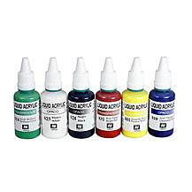 image of Acrylic Airbrush Colours 6 Piece Set