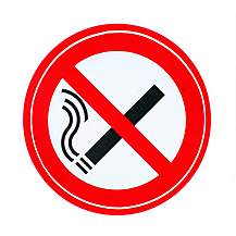 image of Storm Graphics No Smoking Double Sided Sticker 70mm