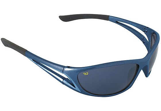 Yellow Jersey Wrap Sunglasses - Blue
