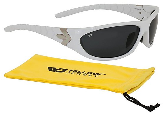 Yellow Jersey Sunglasses - White