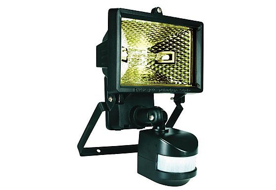 Smartwares 120W Black Floodlight with PIR