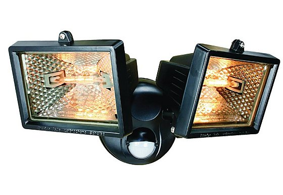 Smartwares 120W Black Twin Floodlight with PIR