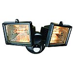 image of Smartwares 120W Black Twin Floodlight with PIR