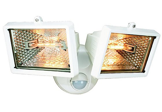 Smartwares 120W White Twin Floodlight with PIR
