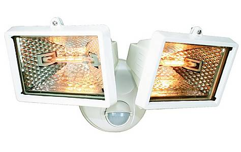 image of Smartwares 120W White Twin Floodlight with PIR