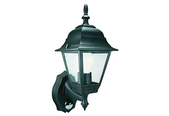 Smartwares 60W Black Coach Lantern with PIR