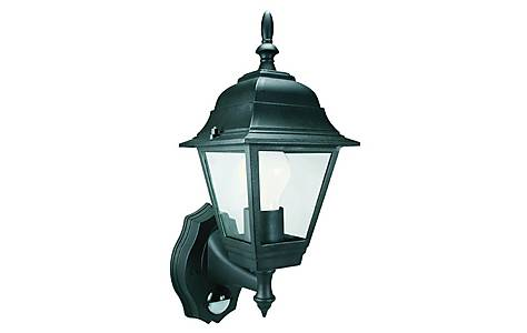 image of Smartwares 60W Black Coach Lantern with PIR