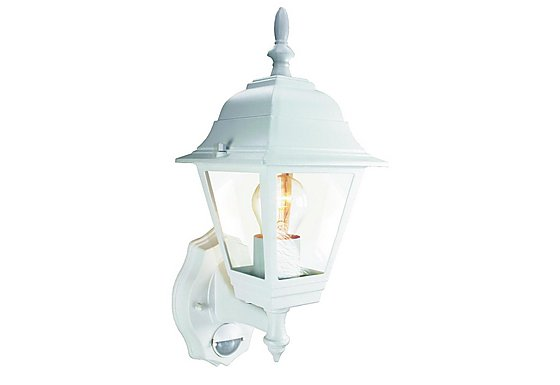 Smartwares 60W White Coach Lantern with PIR