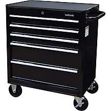 image of Halfords 5 Drawer Cabinet - Black