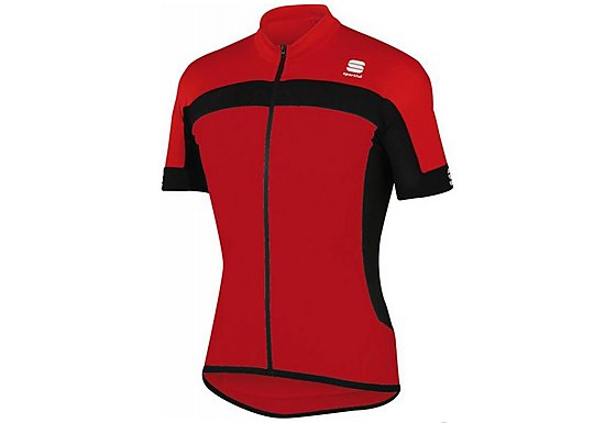 Sportful Pista Long Zip Cycle Jersey - Red - Extra Large