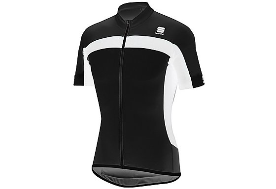 Sportful Pista Long Zip Cycle Jersey - Black - Extra Large