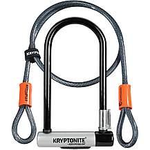 image of Kryptonite KryptoLok D-Lock With 4 Foot Kryptoflex Cable