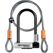 image of Kryptonite KryptoLok Mini D-Lock with FlexFrame Bracket & Flex Cable