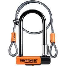 image of Kryptonite Evolution Mini 7 D-Lock With 4 Foot Kryptoflex Cable
