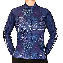 image of Little Miss Fabulous Long Sleeved Cycling Jersey