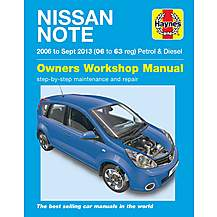 image of Haynes Nissan Note mini-MPV (Apr 06 - 13) Manual