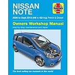 Haynes Nissan Note mini-MPV (Apr 06 - 13) Manual