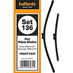 image of Halfords Set 136 Wiper Blades - Front Pair