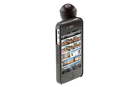 image of Bubblescope 360 Camera Lens with iPhone 4/4S/5 Case